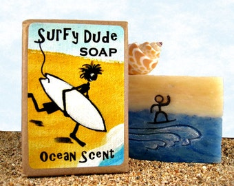 GIFT for SURFER, Man, Boy, Teenager. Gift for Him. 4.5 oz Soap for Men.