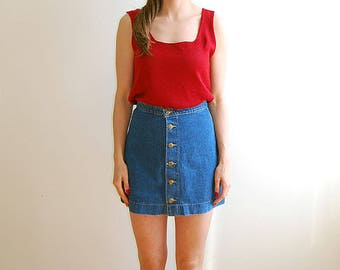 Vintage red knit tank top