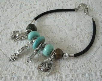 Western Charm Bracelet, southwestern jewelry southwest jewelry turquoise jewelry native american jewelry style country western cowgirl rodeo