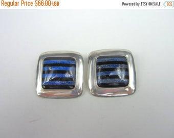 On Sale Sterling Silver Earrings. Malachite Onyx Earrings