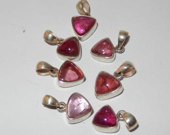 Pink Tourmaline Sterling Silver Pendant