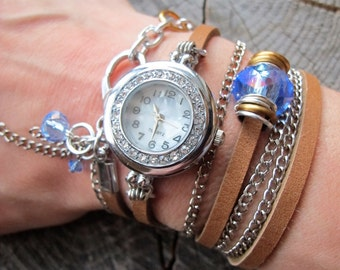 Leather Wrap Watch, Leather Watch, Leather Watch Women, Wrap Watch, Womens Watches, Wrap Around Watch, Watches for Women