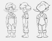 RESERVED Margaret Lee LS Goblin key character designs
