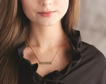 Initial Bar Necklace by MudPie