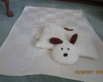 Baby Blanket with Puppy Pillow-Personalized