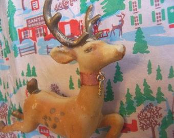lovely prancing plastic deer
