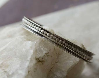 Sterling Silver Fidget Bracelet Anticlast, Bangle Sterling Silver