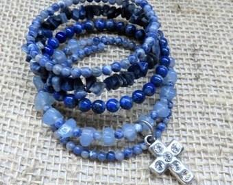 Bohemian Wrap Bracelet - Memory Wire Wrap Bracelet - Bead Wrap Bracelet - Bohemian Jewelry Wrap Bracelet - Wraparound Bracelet