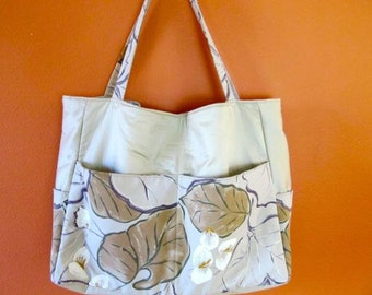 Charlotte #38 50% OFF  Extra Large Tote, Extra Large Bag, Knitting Bag, Knitting Tote, Knitting Project Bag, Project Bags, Needle Point Bag