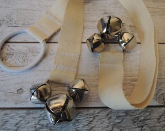 Natural Cotton Hemp Training Bells, Dog Potty Trainer, Instructions included