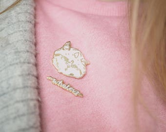 "Cat Enamel Pin pack ""WHATEVS"" Gold and Pink - cute sassy kitten kitty lapel cool backpack jewelry hat pins cat lovers pingame collectibles"