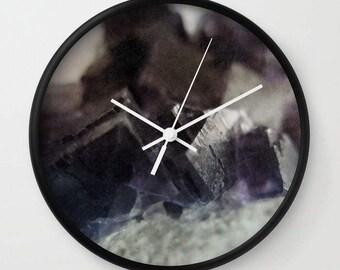 fluorite aura - wall clock