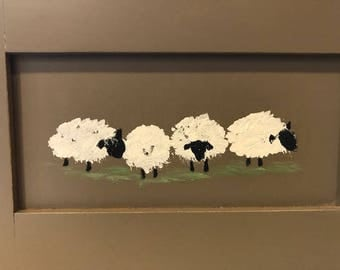 Painting of a group of sheep