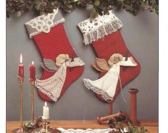 1980s Christmas Stocking Christmas Angel Stocking Pattern Only Christmas Decor Holiday Decor