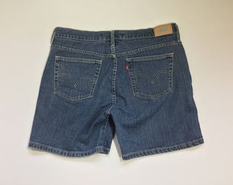 Levi's cut offs, Levi's 515, Woman's denim shorts, size 14 denim shorts, jean shorts, summer denim, vintage denim, vtg denim shorts