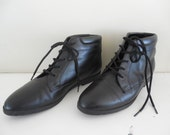 Black Leather Ankle Boots Vintage