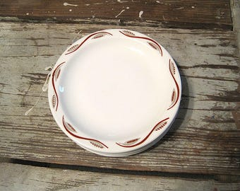 Five Homer Laughlin Restaurant Ware Salad Plates