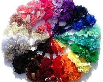 Chiffon Ruffle Bloomer with Shabby Chic Headband, Photo Prop, Newborn Bloomers, Baby Bloomers, Baby Girl Bloomers, Ruffle Bloomers