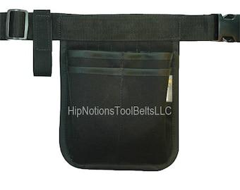 Vet Tech Medical Mini Computer Black Cordura Nylon HipNotions Tool Belt with tape loop