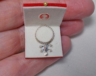 Dollhouse miniature Boxed Jewel / Necklace in red box (ref 2)