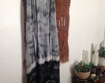 Shades of Gray Tie Dye Cotton Gauze Dress OS
