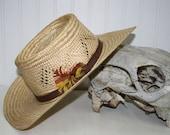 Vintage Straw Bailey Cowboy Hat - size 7 1/4 - item #2340
