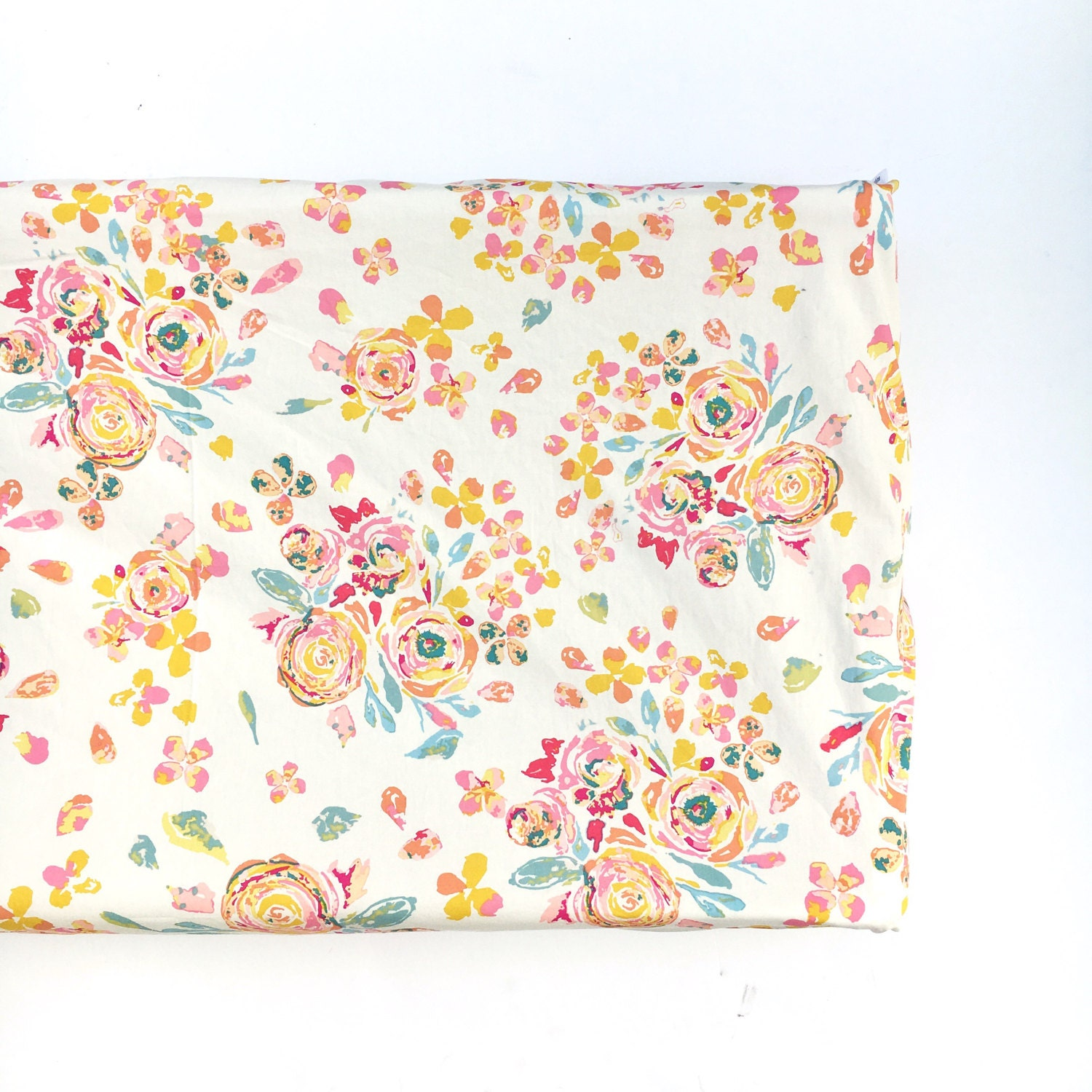 Crib Sheet Changing Pad Cover Swifting Flora White Floral