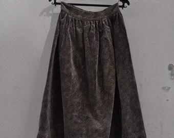 1950s full skirt in brushed cotton