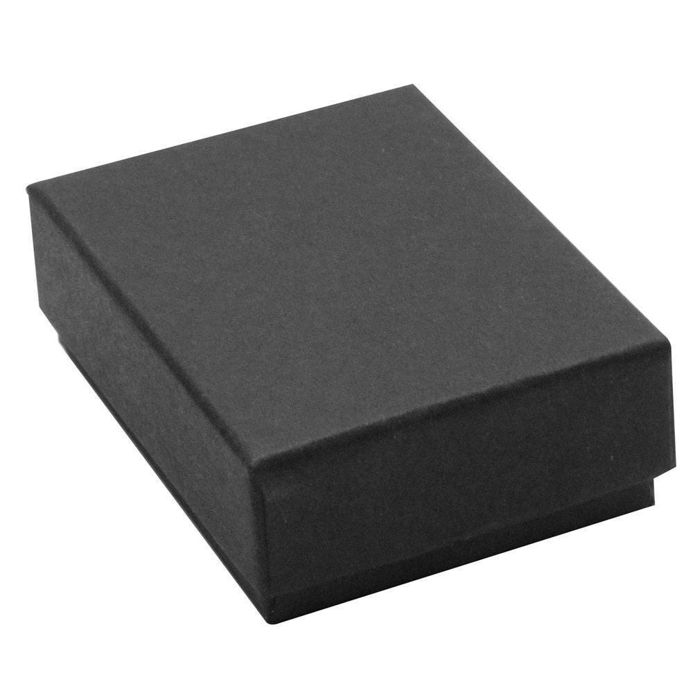 100 pack matte black boxes 2 5 x 1 5 x 1 in cotton for Black box container studios