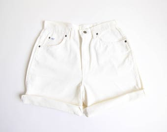 VINTAGE White Denim Shorts Chic Jeans