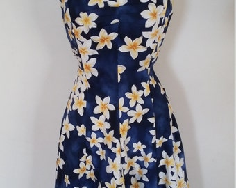 vintage style pin up 1950s Hawaiian dress size  large vlv