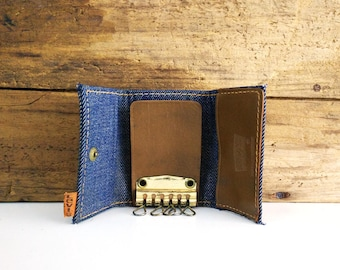 Vintage Levis Wallet / Trifold Denim Key Holder