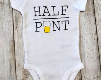 Half Pint, Onesie, Baby, Clothes,  bodysuit, children clothing, baby, tops,shirt
