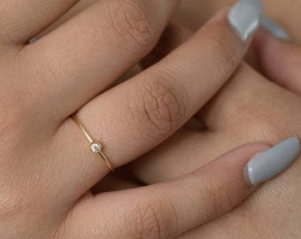 Stack Ring - Small Ring - Skinny Ring - Dainty Ring - Everyday Ring - Silver Ring - Skinny Gold Ring  - Skinny Rings