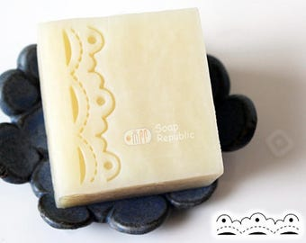 20% off ~ SoapRepublic Lace--Fancy Border / Acrylic Soap Stamp / Cookie Stamp / Clay Stamp