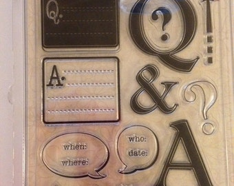 Clear Stamp Set -- NEW -- Question and Answer -- (#2087)