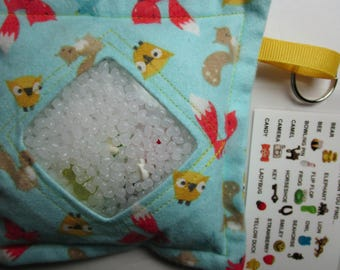 I Spy Bag, Fox Owl, Neutral, eye spy, busy bag, seek and find toy game, gift, sensory occupational therapy, travel toy, fidget stimming