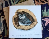 Belly Of A Walnut // Square Greeting Card