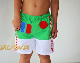 Boys Buzz Swim Shorts Swim trunks Bathing Suit Delux version