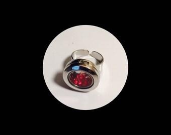 Crystal Locket Ring