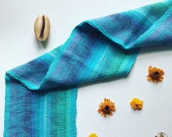 Handwoven Turquoise Scarf