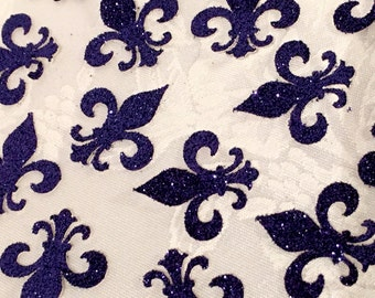 Confetti, 100 ct Glitter Fleur De Lis Confetti Party Decor Table Decorations, MANY COLORS AVAILABLE