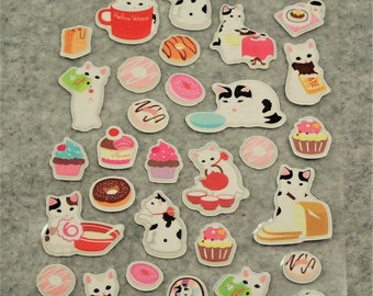 Mixed Sweet Puffy Elegant Cat Stickers