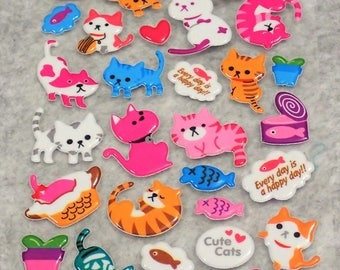 Mixed Cutie Cats Stickers