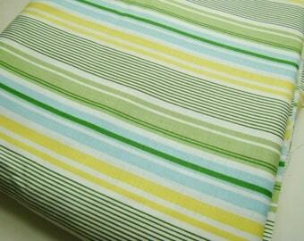Heather Bailey Nicey Jane Slim Dandy Stripe Blue HB-16 Fabric OOP Half Yard Very Hard to Find