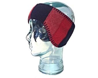 Wool Earflap Headband - Fleece Lined - Wool Headband - Free U.S. Shippping