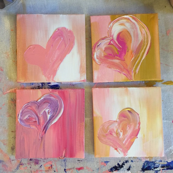 """4""""x4"""" Acrylic Painting 