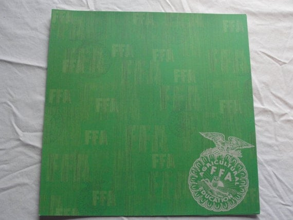 FFA Green background 12x12 scrapbook paper