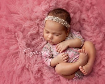 Leighton Heritage 3'x5' Genuine Flokati Newborn Photography Wool Posing Prop Pink Organic Large Layering Bean Bag Floor Cover Nursery Rug
