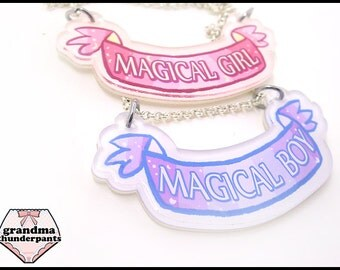 Magical Girl/Boy Necklace, Mahou Shoujo, Magical Jewelry, Magical Girl Accessories
